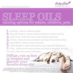 oils to help you sleep