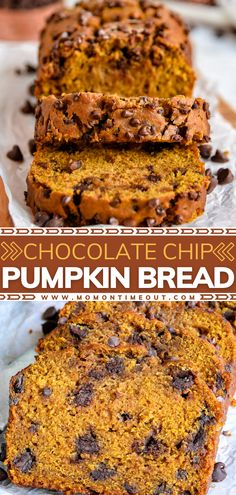 This easy recipe is a must-make for Thanksgiving – no mixer needed! Bursting with delicious flavor and a pop of color from chocolate chips, this homemade pumpkin bread is the BEST. Bake up this perfectly spiced, supremely moist loaf and serve for breakfast or dessert!