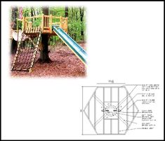 This treehouse plan will show you how to build a 8' hexagonal treehouse platform on a single tree trunk.