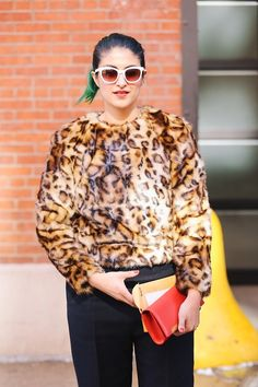Preetma Singh takes leopard print to another cuddly level. #topshop #leopardprint #leopard #inspiration #styleinspiration #inspo
