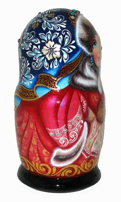 Nesting Doll Side View➕➖Russian Nesting Dolls / Matryoshka Folk Art➕More Pins Like This At FOSTERGINGER @ Pinterest ➖✖️