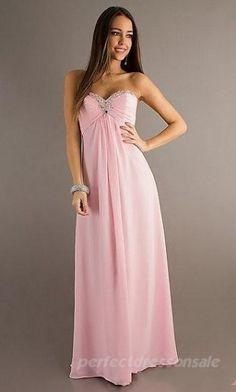 Sleeveless Chiffon Prom Dresses A-Line Pink Prom Dresses 04430