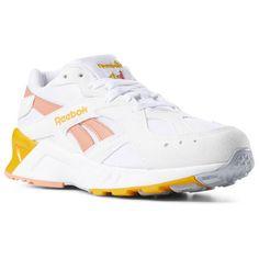 603aea18d928 Reebok Shoes Unisex Aztrek in White Stellar Pink Gold Size M 11.5   W 13 -  Retro Running Shoes