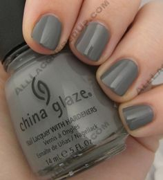 Look, you won't look stupid with grey polish, you can do it