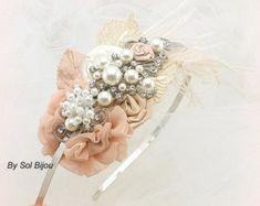 Hair Clip Bridal Wedding Fascinator Vintage-Inspired by SolBijou