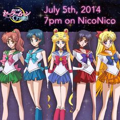 Sailor Moon Crystal sailor scout designs.