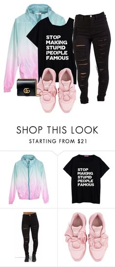 """""""213. QOTD: When is the last day of school for you?"""" by lifeissweet170000 ❤ liked on Polyvore featuring Puma and Gucci"""