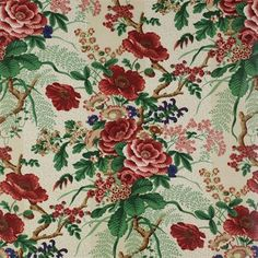 Tree Poppy Fabric - Colefax and Fowler