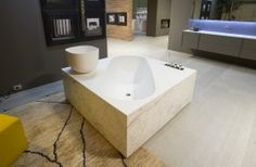 Antonio Lupi DIMORA Corian Rectangular Bathtub, Covered On 4 Sides With  Panels In Various Materials Complete With Regulating Feet, Drain And  Pressure Plug.
