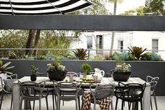 Award-Winning Landscape, Rooftop & Balcony Garden Design Projects from Sydney Landscape Designer, Stylist & Horticulturist Adam Robinson Outdoor Dining, Outdoor Spaces, Outdoor Chairs, Outdoor Decor, Indoor Outdoor, Rooftop Garden, Balcony Garden, Balcony Design, Garden Design