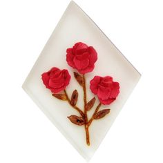 Vintage Reverse Carved Painted Roses Lucite Pin Brooch Rockabilly offered by Ruby Lane Shop, Cousins Antiques.  #lucite #rockabilly