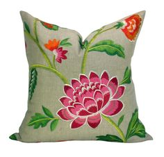 Manuel Canovas Carla pillow cover in Rose Indien by sparkmodern