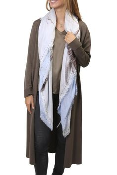 Shop our selection of scarves here! SHOP NOW! Scarf Styles, Shop Now, Duster Coat, Scarves, Clothing, Jackets, Shopping, Collection, Fashion