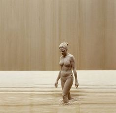 to the river - A hand-carved wood sculpture by the amazing artist, Peter Demetz. Human Sculpture, Sculptures Céramiques, Sculpture Clay, Italian Sculptors, Italian Artist, Wassily Kandinsky, Wood Carving, Wood Art, Amazing Art