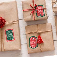 Pegatinas: Kit etiquetas Christmas Very Merry Christmas, Kit, Gift Wrapping, Happy, Christmas Window Display, Fabric Scraps, Snowflakes, Vinyls, Stickers