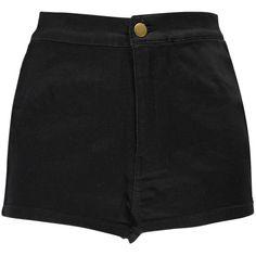 Boohoo Liberty High Rise Denim Disco Shorts ($16) ❤ liked on Polyvore featuring shorts, bottoms, short, pants, highwaist shorts, highwaisted shorts, high rise shorts, high waisted short shorts and high-waisted denim shorts