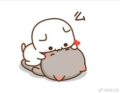 Cute Love Pictures, Cute Love Gif, Cute Love Memes, Cute Cat Gif, Cute Kawaii Drawings, Kawaii Doodles, Cute Animal Drawings, Cute Love Drawings, Cute Couple Cartoon