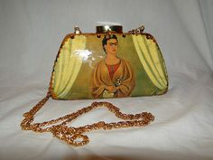 STELLA PAGE Los Angeles - Frida Kahlo/ Retired/Vintage/ Artwork Decoupage Purse