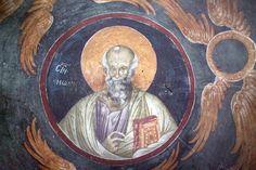 St John the Theologian (Gracanica) Fresco, Order Of Angels, Byzantine Icons, Ikon, Saints, Painting, Fresh, Painting Art, Paintings