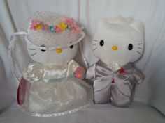 HELLO KITTY DEAR DANIEL Sweetheart Wedding Set Plush Dolls - Sanrio 1976,1999