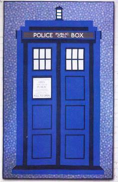 Relatively Dimensional - Dr Who Tardis quilt PATTERN - Hunter's Design Studio | eBay