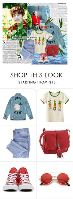 """""""Happy belated birthday Moon Taeil!!!"""" by ani-onni ❤ liked on Polyvore featuring Être Cécile, Essie, Converse and ZeroUV"""