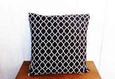 Housse de coussin 40 x 40 cm motifs Géométriques LOSANGES Noirs et blancs : Textiles et tapis par zig-et-zag
