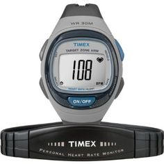 Personal Trainer Heart Rate MonitorImprove your health, track your intensity and help meet your weight loss goals by being in the know with a Timex HRM. Features: Flex-Tech analog sensor works with most heart rate enabled gym and fitness equipment Automa Running Gps, Running Watch, Glitch, Triathlon Watch, Sporty Watch, Timex Watches, Wrist Watches, Fitness Watch, Heart Rate Monitor