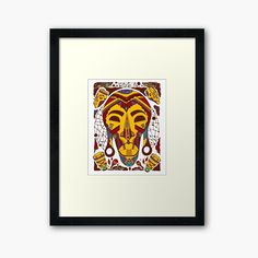 Mustard Brown Tribal African Mask by kenallouis | Redbubble Tribal African, African Masks, Top Artists, Illustration Artists, Painting & Drawing, Drawings, Artwork, Inspiration, Biblical Inspiration