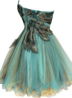 I found 'Metallic Peacock Embroidered Holiday Party Prom Dress Junior Plus Size' on Wish, check it out!