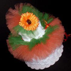 Lil' Pumpkin Tutu Diaper Cake Baby Shower Centerpiece Little Orange Fall Autumn Game Ideas Decorations Newborn Photo Prop Idea Gift
