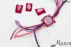 #tutorial #soutache  kamienie kocie oko Soutache Pattern, Soutache Tutorial, Macrame Tutorial, Make Your Own Jewelry, Jewelry Making, Soutache Necklace, Beaded Embroidery, Jewelry Crafts, Beadwork