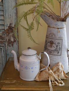 French enamel pitcher