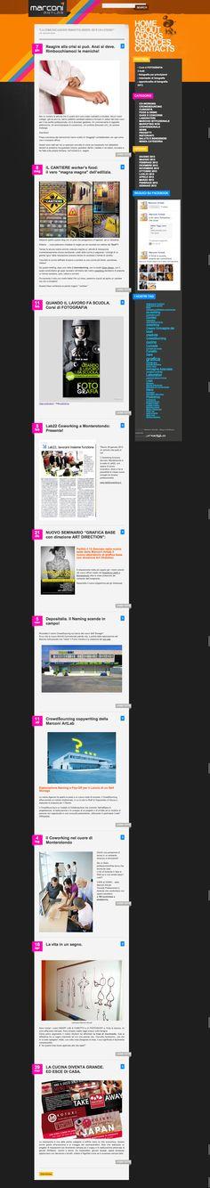 Marconi Art Lab by Paolo Prosperi, via Behance. #webdesign #wordpress