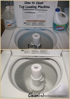 """Fake(and possibly deadly) - This is being pinned, in an abridged form, as a way to clean a washing machine. - """"Cleaning A Top Loading Washer Machine using 1 Quart Chlorine Bleach and 1 Quart Distilled White Vinegar""""......This can form chlorine gas and kill you! Hint: Don't use Chlorine bleach and Ammonia either. It can kill you too....(Follow the link to read about the safe and complete method.)"""