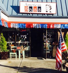 Outside of store AMERICAN SASS on State 19062 STATE HWY 305 Suite #202 POULSBO WA
