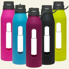 Takeya 22.5 oz Glass Water Bottle with Silicone Sleeve