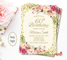Women Birthday Invitations for Any Age. Surprise Birthday