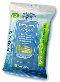 Practical Travel Gear review.  Sea to Summit Wilderness Wipes.