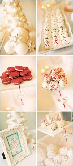 A dessert table winter wonderland! #noms