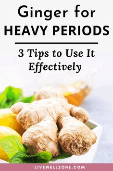 Need tips on how to stop heavy periods? Ginger is one of the best, scientificall. Natural Health Remedies, Herbal Remedies, Cold Remedies, How To Stop Period, Period Remedies, Balance Hormones Naturally, Balancing Hormones, Ginger Benefits, Tea Recipes