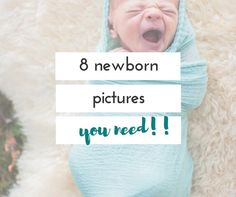 Having a baby soon, or just had one? Time with your newborn goes by so fast! Here are 8 special newborn pictures to take!!