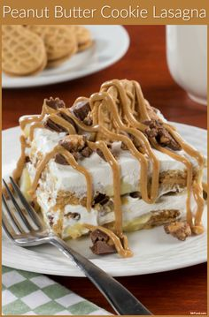 What's the ultimate peanut butter dessert? This 4-ingredient, no-bake, Peanut Butter Cookie Lasagna. Try to resist drooling!
