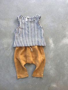 7e5b9c64185c pantaloni di lino vestiti di lino bambino pantaloni harem senape genere |  Etsy #