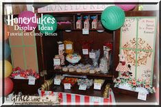 Honeydukes Candy Display - Harry Potter Party Post