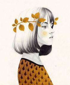 "3,119 aprecieri, 22 comentarii - Ricard Lopez Iglesias (@ricardilus) pe Instagram: """"Gea"". #art #arte #artwork #artist #acuarela #aquarelle #creative #creativity #watercolour #dibujo…� Watercolor Portraits, Watercolor And Ink, Digital Portrait, Digital Art, Girl Drawing Sketches, Drawings, Watercolour Tutorials, Illustration Art, Wallpaper"