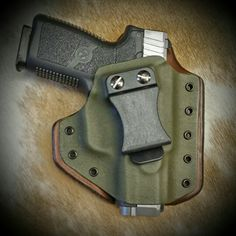 Kahr CW9 in a Leatherback Hybrid Holster from WW Tactical Systems.