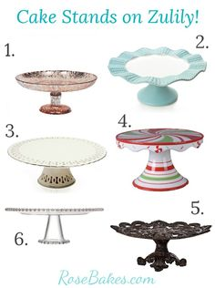 Cake Stands at Zulily + Free Shipping! - Rose Bakes