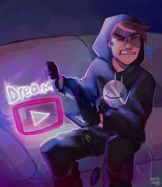 Mc Wallpaper, Dream Anime, Dream Friends, Minecraft Fan Art, Just Dream, Dream Art, Funny Games, Dream Team, His Eyes