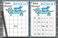 blue dog baby shower games package, puppy Baby Shower games pack, dog baby shower games, 9 baby show Baby Bingo, Baby Shower Bingo, Baby Shower Activities, Baby Shower Cards, Baby Shower Printables, Shower Games, Baby Animal Name Game, Baby Name Game, Dog Baby